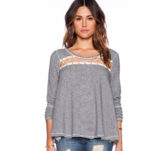 Free People | Lacey Love Pullover Sweatshirt M